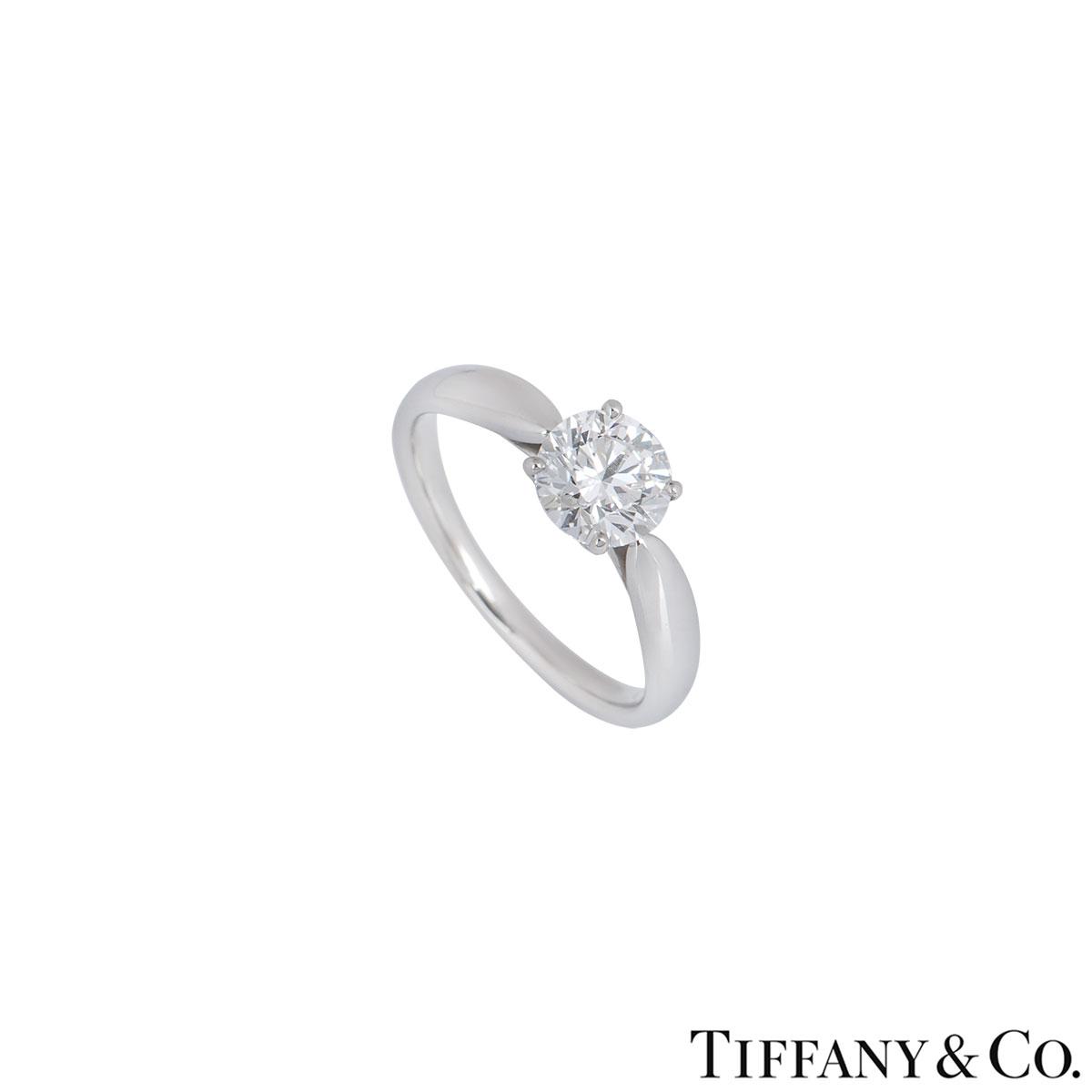 Tiffany & Co. Platinum Diamond Harmony Ring 0.91ct G/VS2